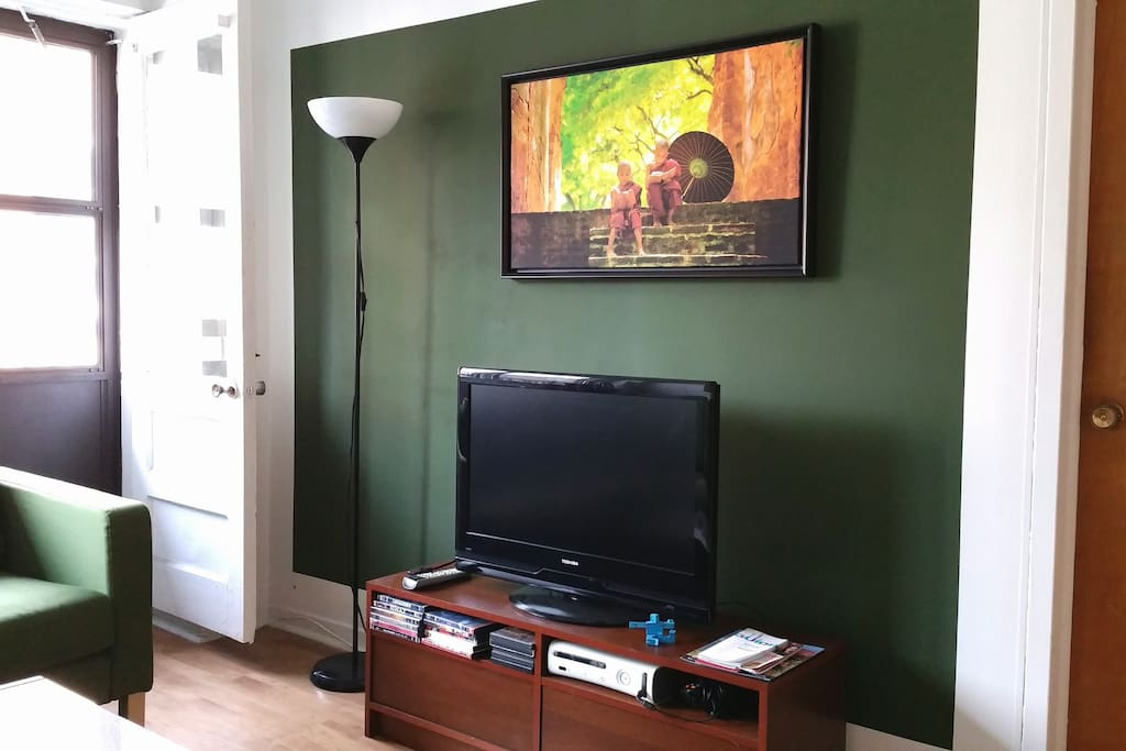 Flat TV screen + DVDs
