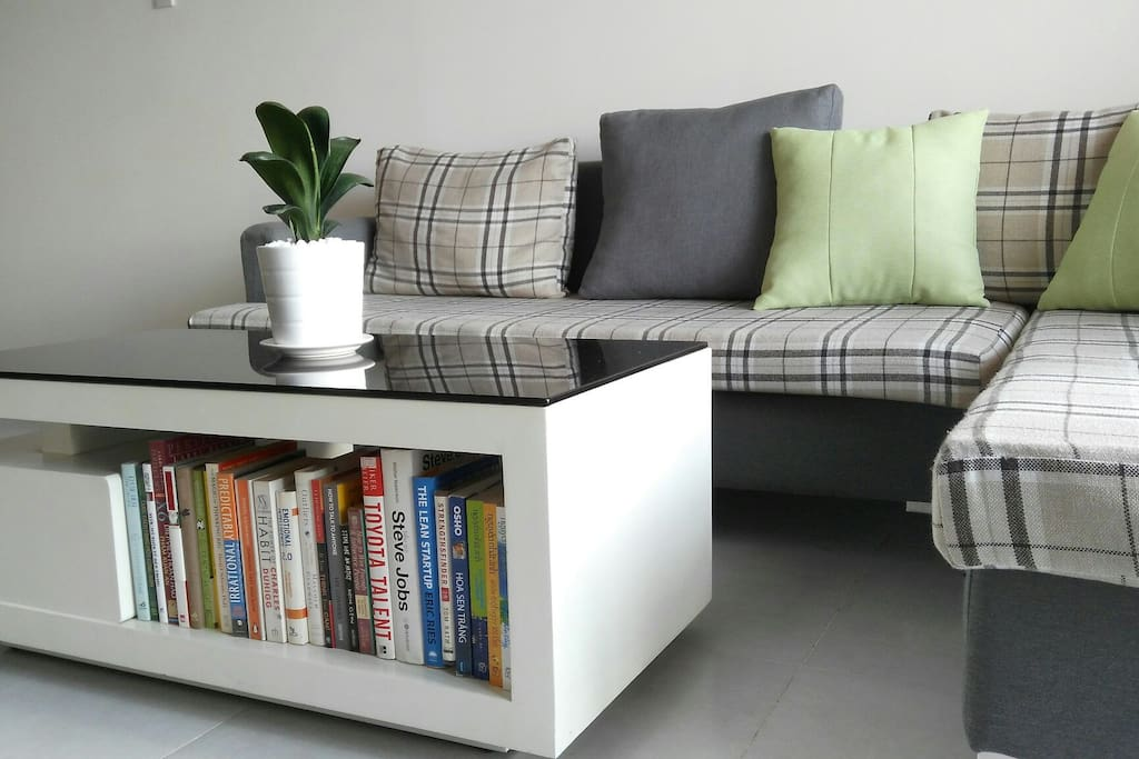 Reading couch in living room