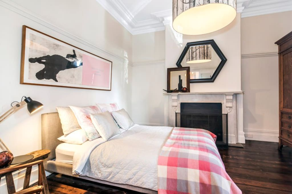 Master Bedroom with gas heating and clothes storage