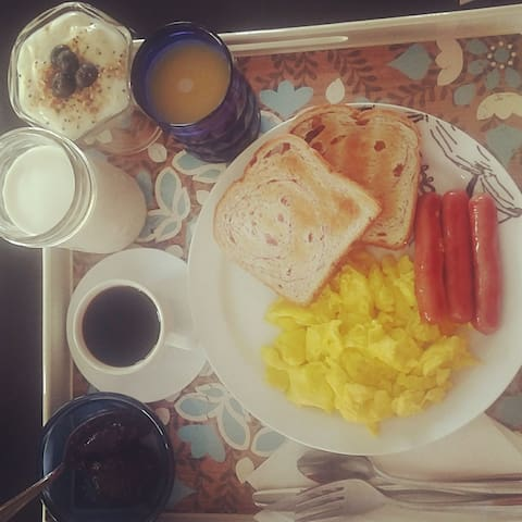 Breakfast can be delivered, just ask!