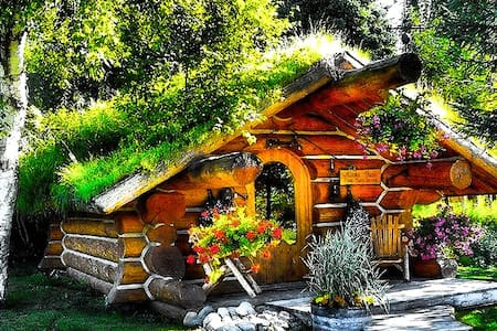 The Hobbit cabin , cozy and unique