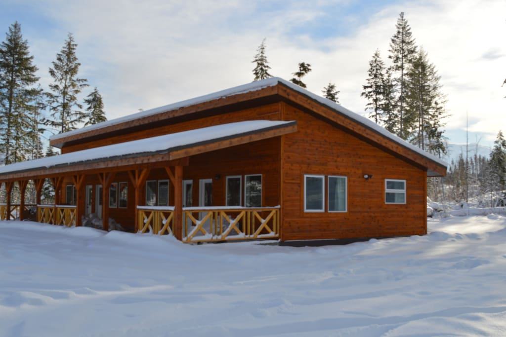 Our cabins in winter