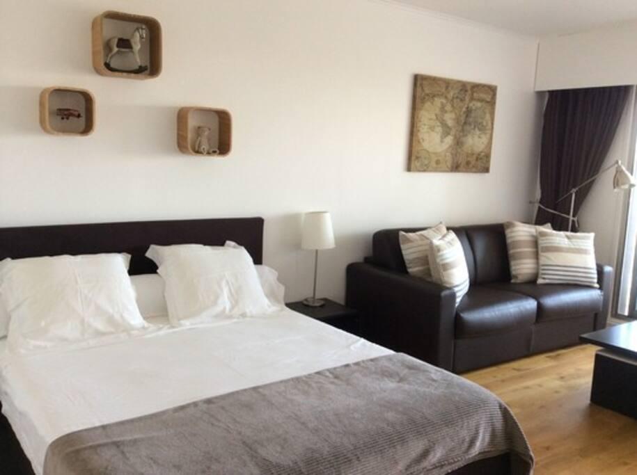 Chambre lit + canapé convertibe #cosy
