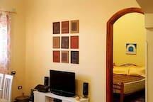 Living Room with door to the sleeping room