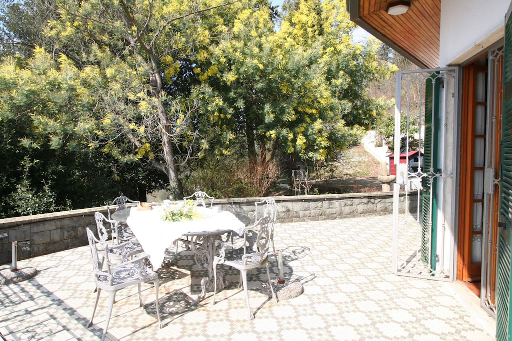 Sunny terrace for your  breakfasts! Just out of kitchen !