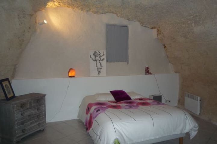 limeray) chambre dans habitat semi-troglodyte - Limeray - Pension
