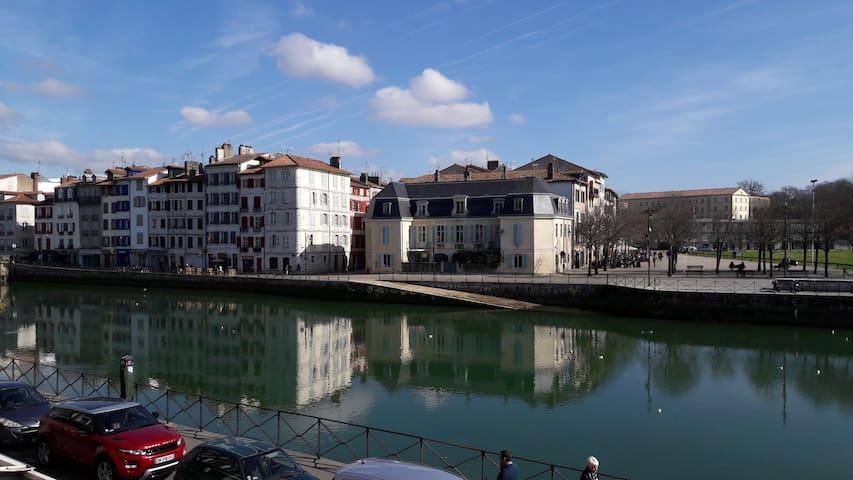 Lovely 2 rooms apt & river view. Bayonne center - Bayonne - Apartament
