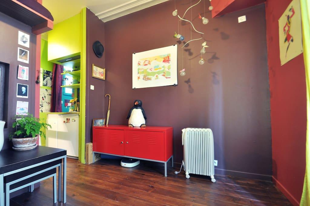 Nice studio in Jourdain's village
