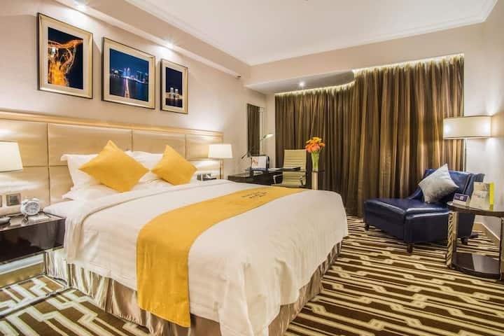 澳门维景酒店(Metropark Hotel Macau)高级客(住3-4人)澳门半岛市中心,大三巴