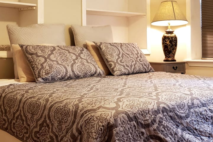 Twin beds can convert to Queen (european style) bed.