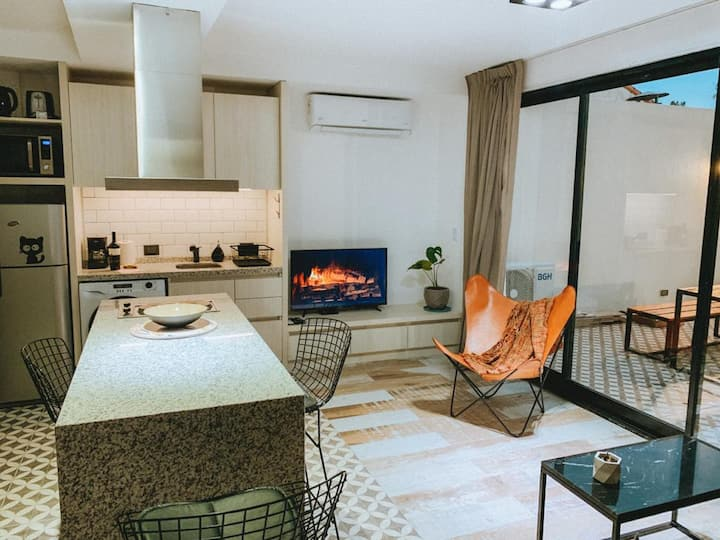 SAAVEDRA! Beauiful new apartment with bedroom