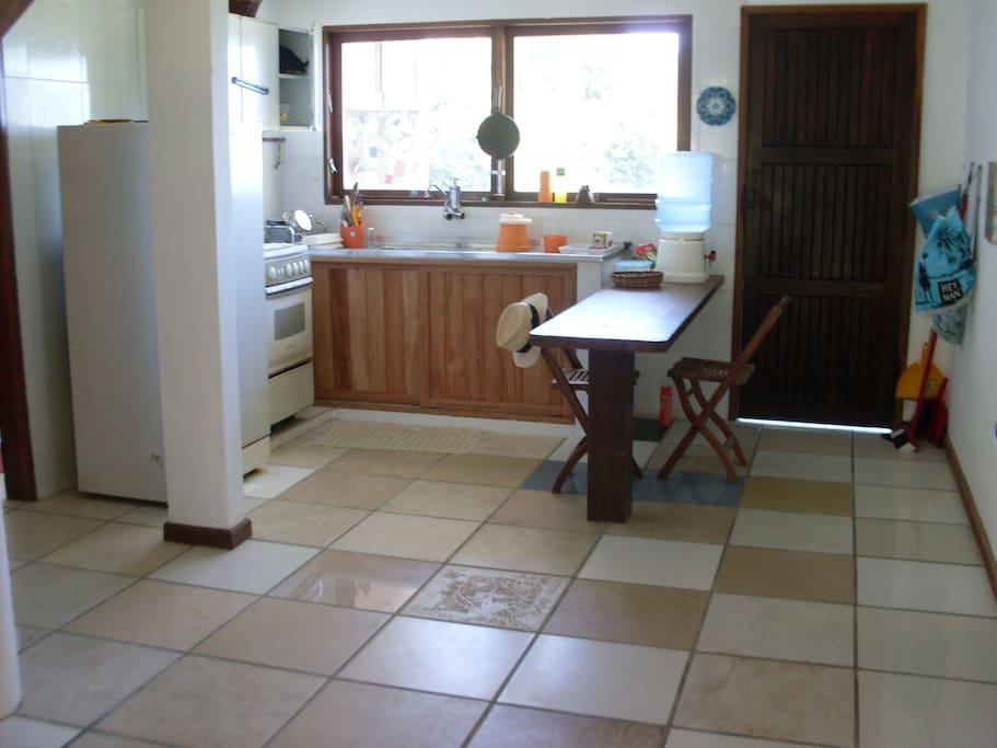 Vista da sala/cozinha