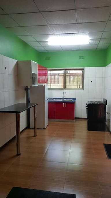 Kitchen with self careing facilities.