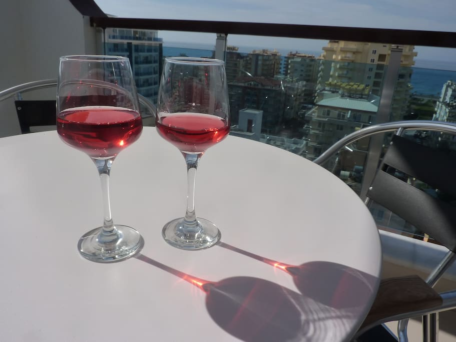 ...or admire the sunset with a glass of fine wine.