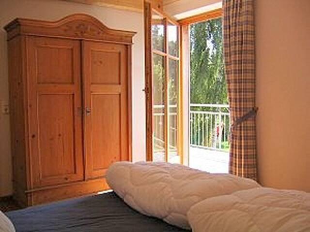 Blick aus dem Doppelzimmer