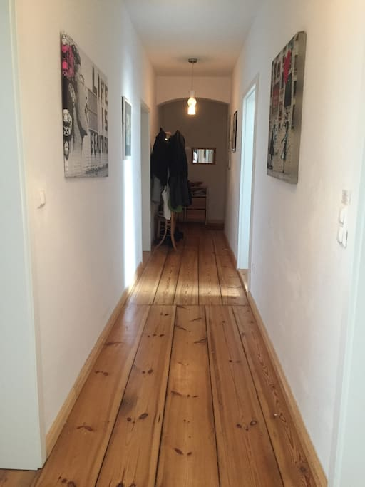 The long and artsy hallway