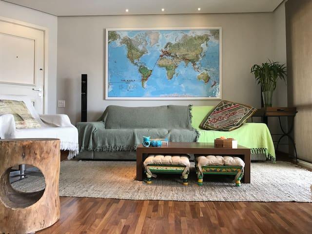 Wide (98m²) luxury apt great location Higienópolis