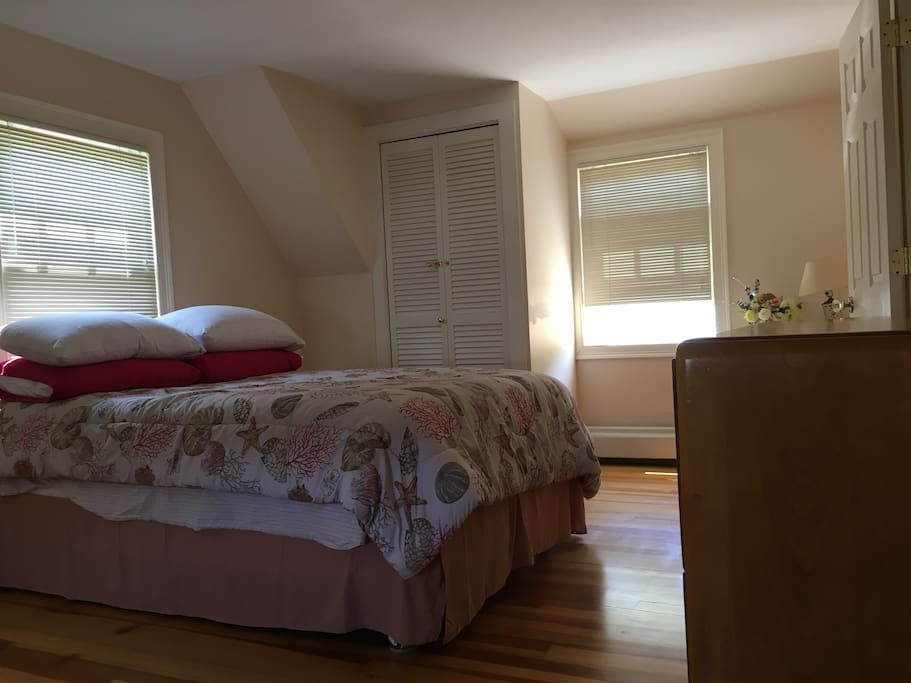 East Bedroom has full bed with plush mattress topper