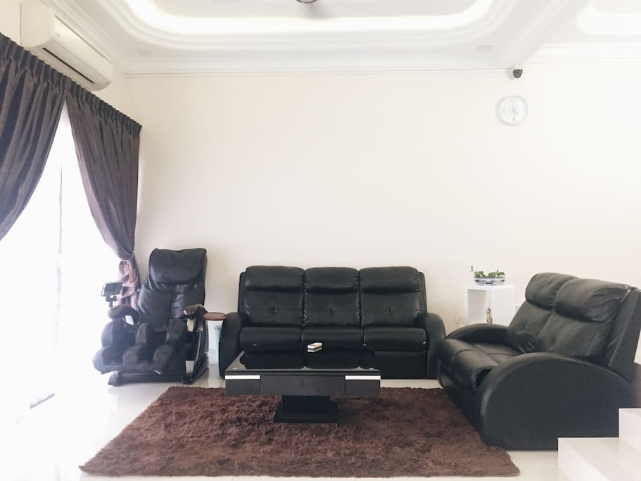 Living Area with Massage Chair & 2HP Airconditioner