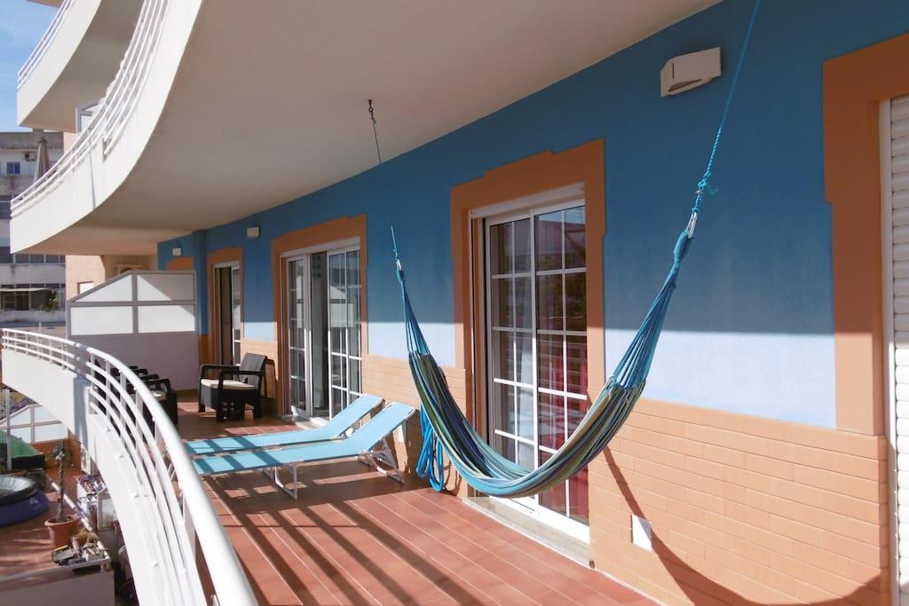 All day sunny terrace