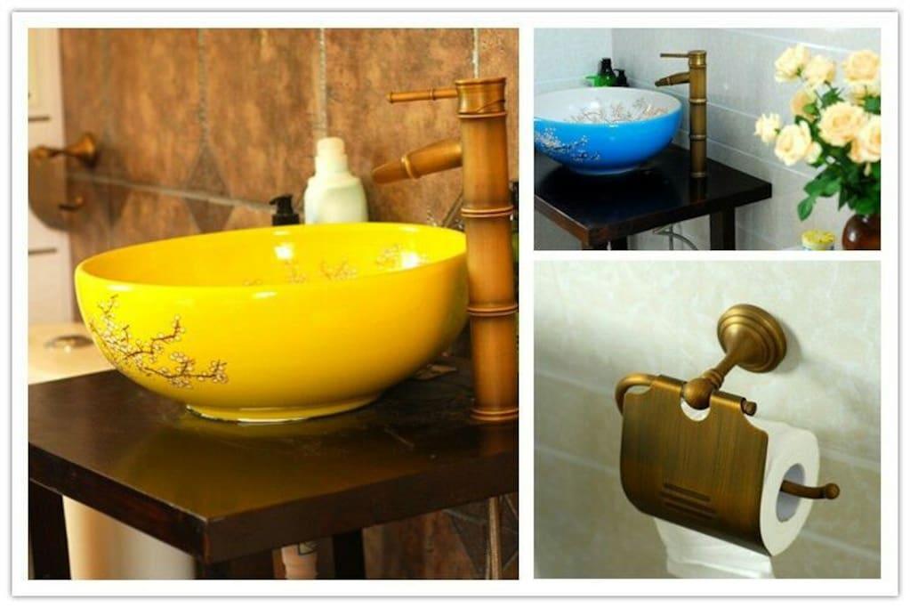 各房间单独卫生间洗手盆