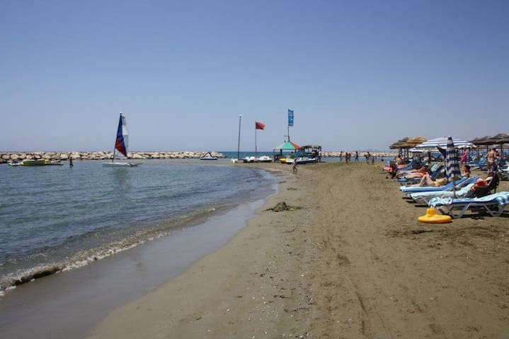 Hotel's Beach with water sports, open to the public