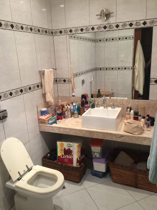 banheiro mais perto do quarto.