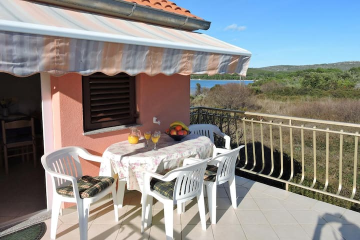 Two bedroom apartment with terrace and sea view Veli Rat, Dugi otok (A-436-a)