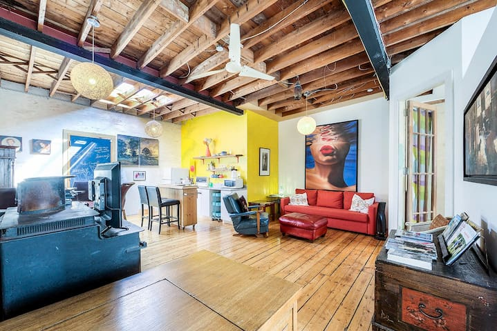 Unique Above Garage Loft