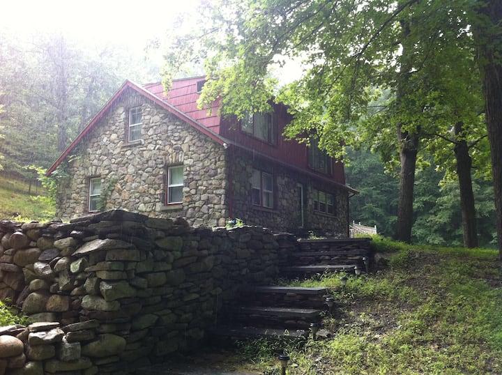 Charming Vintage Stone Cottage Room