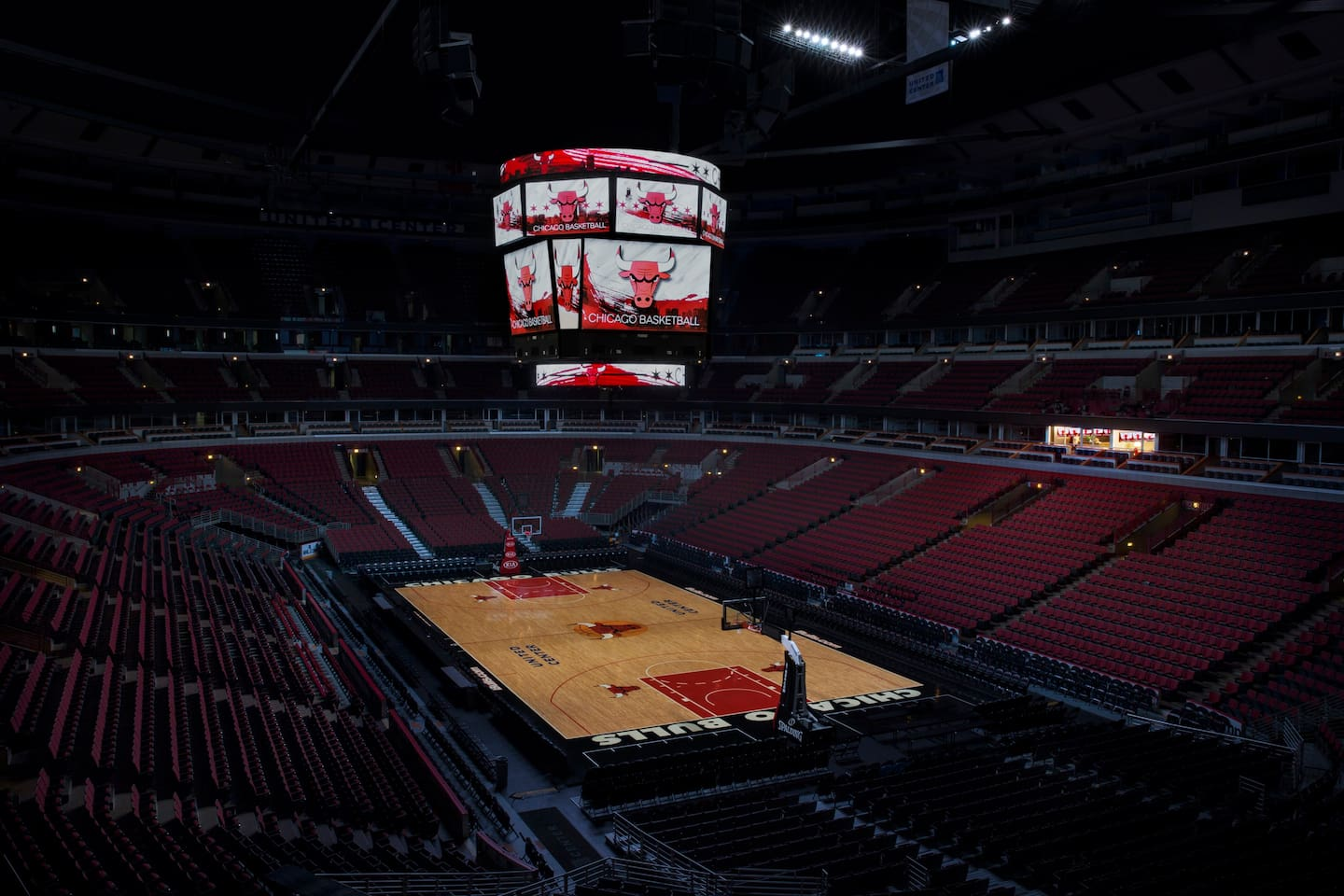 Look out over spectacular views of your Chicago Bulls' home court.