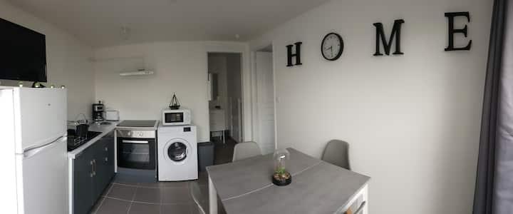 Appartement 2 Neuf RDC + Terrasse + Parking privé