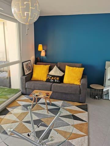 Petit appartement chaleureux et confortable