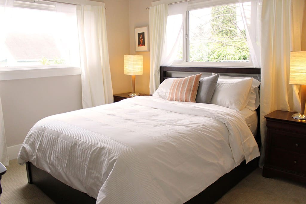 Master bedroom with great natural light, comfy and clean