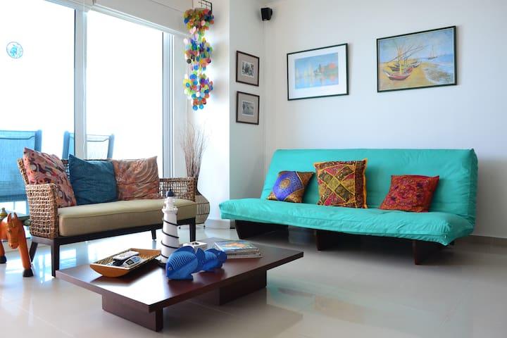 Sofas in living room