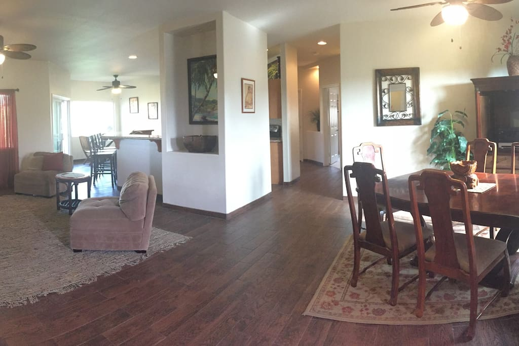 Open floor plan with Living room and formal dining room.