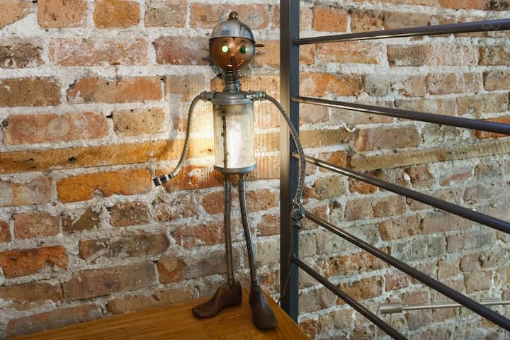 Pinocchio will light your way up the stairs.