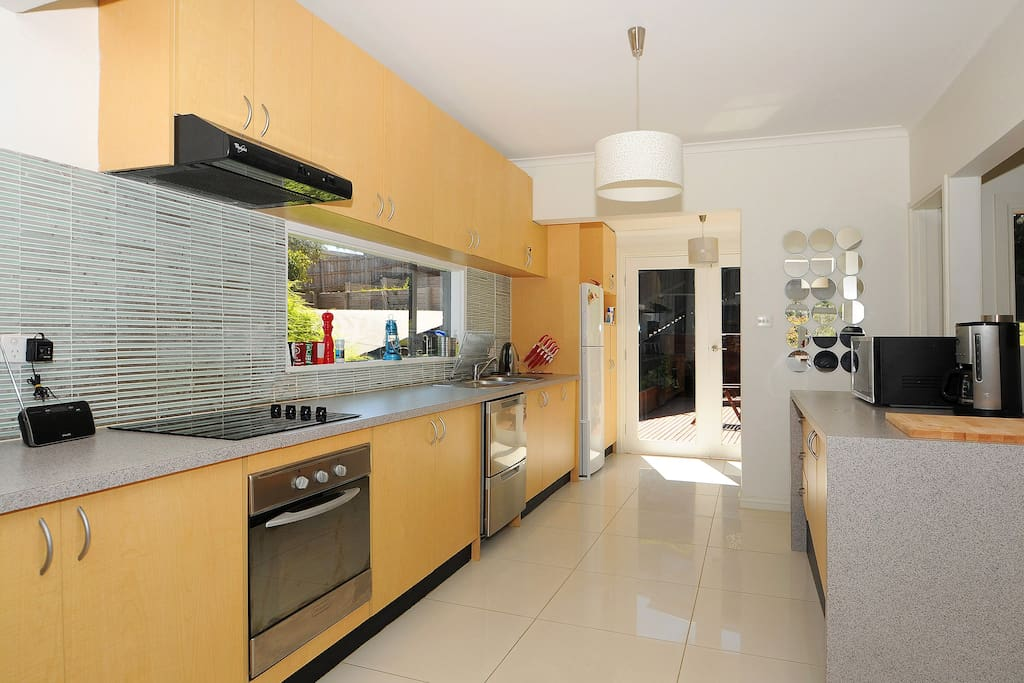 Fabulous, well equipped kitchen, a cook's delight