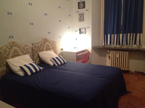 Central double room in Turin