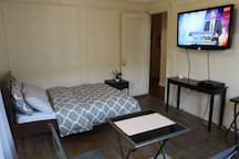 Very Spacious and Clean.  Television with Cable and Internet included.