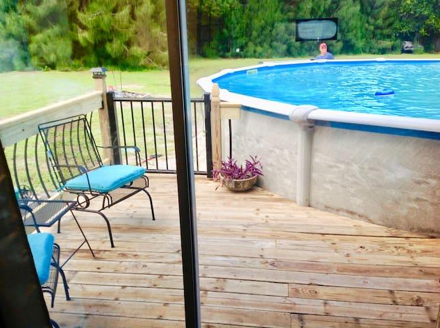The Purple Pool House w/ private deck, near beach