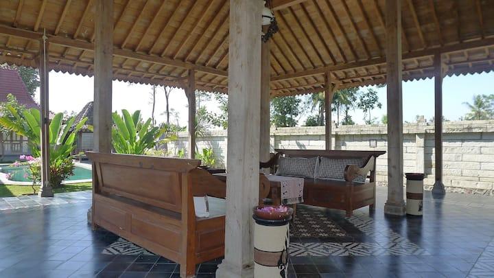 A javanese ethnic design villa