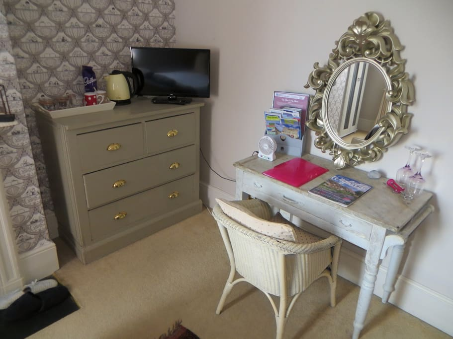 Dressing Area with Tea & Coffee facilities and TV with free Wi-Fi!