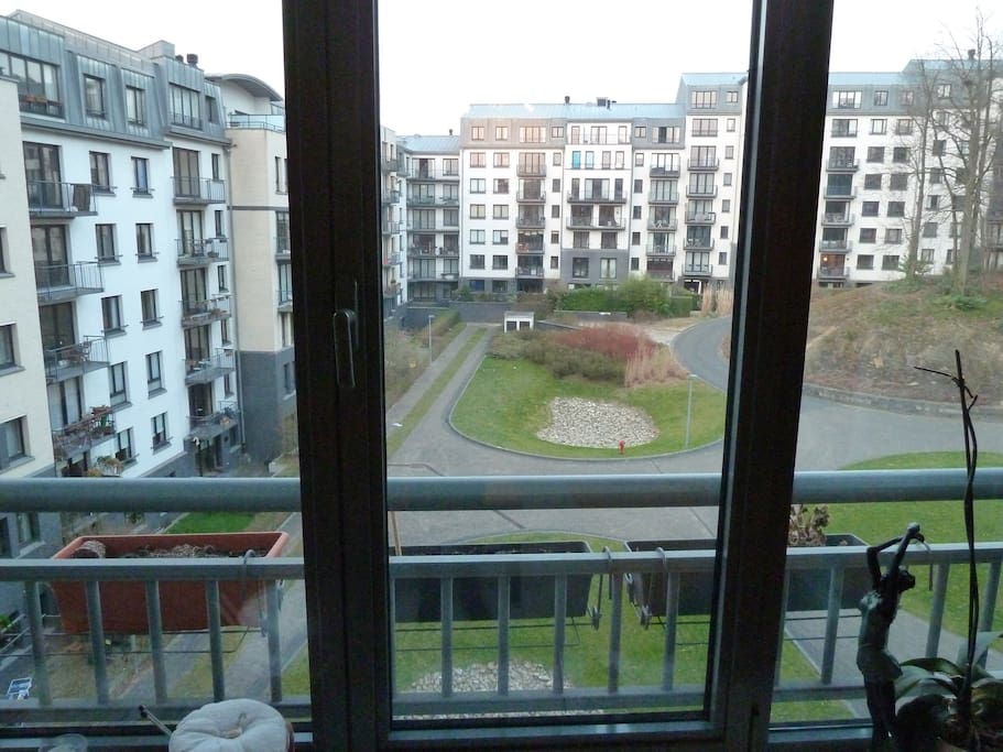 View of private parc from living room
