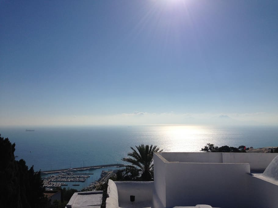 terrasse dar el fell vue sur mer