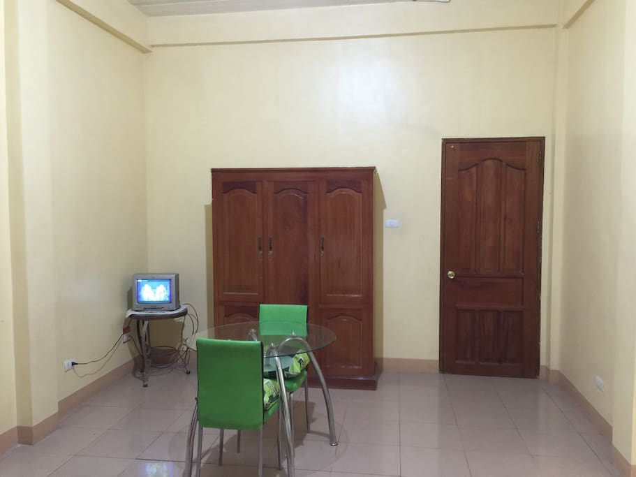 Free use of Tv with cable, cabinet, dining area + 6 3 9 1 7 7 9 9 0 3 2 6 contact person Ms. Nette