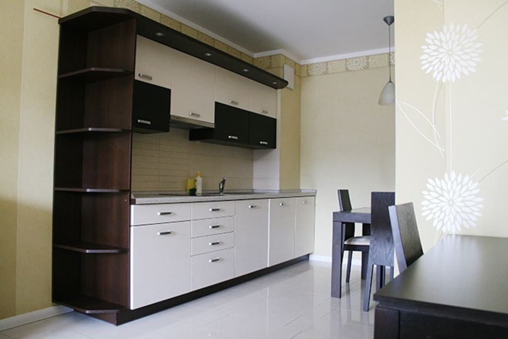 Kitchen is connected with the living room