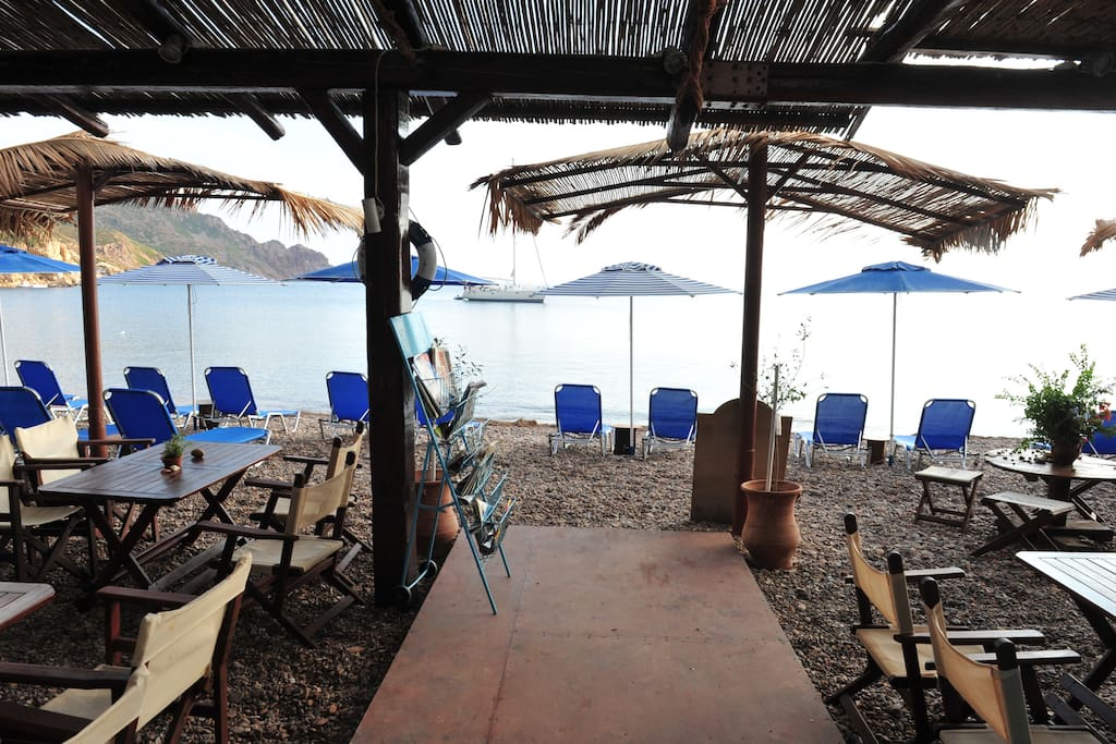 IN FRONT AND EXACTLY ON THE BEACH YOU CAN RELAX AND TASTE OUR TRADITIONAL GREEK DISHES ....