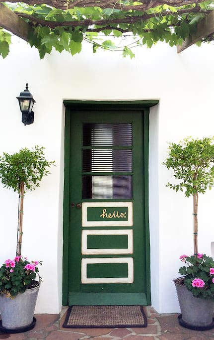 A welcoming entrance . . .