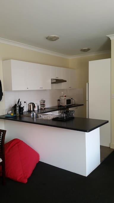 Kitchen is FULLY furnished. Everything you could imagine.